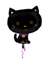 "18"" Cute Halloween Kitty Mylar"