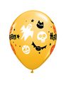 "11"" Halloween Fun Icons Latex Balloon"