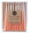 "Hand-dipped 3"" Peach Ombré Beeswax Candles"