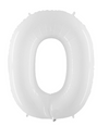 40 inch White Number Mylar