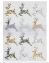 Glitter Reindeer Sticker Sheets