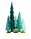 Teal Glass Trees