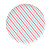 Cherry & Sky Stripe- Large Plate