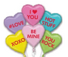 Candy Heart Mylar Bouquet