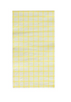 Chartreuse & Grey Grid Dinner Napkin