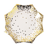 Small Gold Confetti Plate