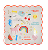 Small Unicorn Rainbow Plates
