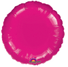 "18"" Transparent Fuchsia Round Balloon"
