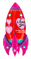 "36"" Rocket Love Mylar Balloon"