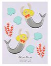Mermaid Puffy Stickers