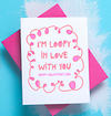 Loopy in Love Valentine's Day Letterpress Card