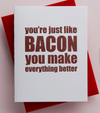 Bacon Letterpress Card