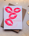 I Wanna Kiss You Letterpress Card