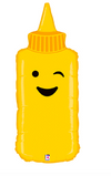 "35"" Mustard Bottle Mylar Balloon"