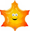 "23"" Smiley Leaf Mylar Balloon"