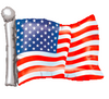"27"" American Flag Mylar Balloon"