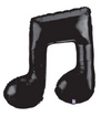 "40"" Black Double Music Note Mylar Balloon"