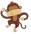 "40"" Monkey Buddy Mylar Balloon"