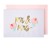 Mr. and Mrs. Flowers Card