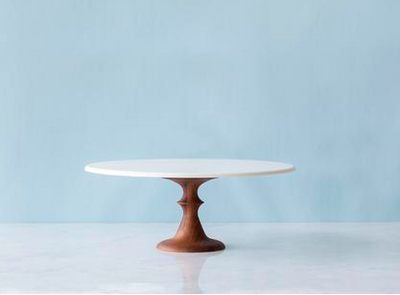 WALNUT BASE CAKE STAND