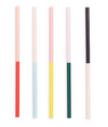 Color block Acrylic Straw Set