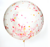 "36"" Jumbo Confetti Balloon-Flamingo"