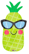 "18"" Pineapple W/Sunglasses Mylar Balloon"