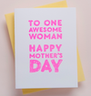 Awesome Woman Mother's Day Letterpress Card