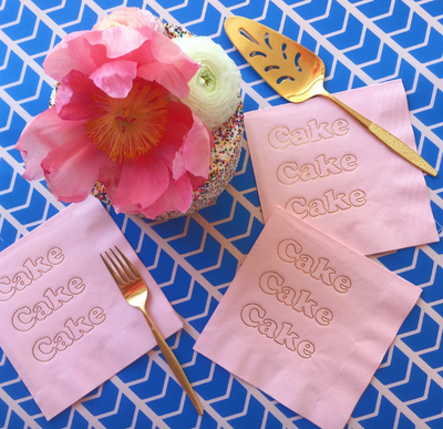 Cake Foil Napkins- Cotton Candy Pink