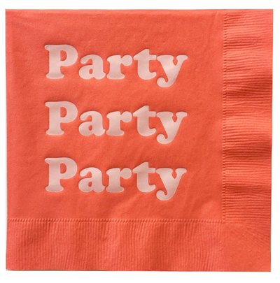 Red Party Foil Napkins