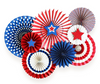 Stars & Stripes Party Fan Set