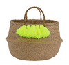 Neon Tassel Belly Basket