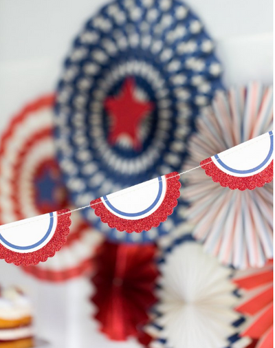 Red, White & Blue Bunting Banner
