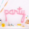 "Translucent Pink Script ""Party"" Balloon"