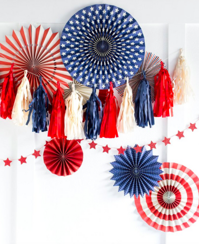 Stars and Stripes Tassel Garland