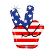 "33"" Stars & Stripes Peace Balloon"