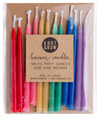 "Hand-dipped 3"" Rainbow Beeswax Candles"