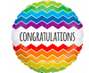 "18"" Holographic Rainbow Chevron - ""Congratulations"""