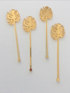 Monstera Palms Acrylic Cocktail Stirrers