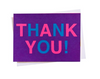 "Purple & Neon - Boxed ""Thank You"" Cards"