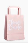 """Team Bride"" Blush Gift Bags"