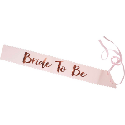 "Rose Gold & Blush - ""Team Bride"" Sash"