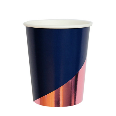 Navy Colorblock Cups