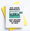 Cassette Birthday Pin & Letterpress Card