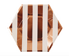 Large Rose Gold Stripe Plate