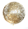 "36"" Jumbo Confetti Balloon-Golden"