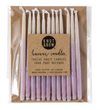 "Hand-dipped 3"" Violet Ombré Beeswax Candles"