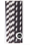 Paper Straws- Black Mix