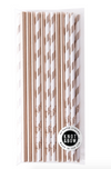 Paper Straws- Gold Mix
