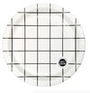 Black Large Grid Plate